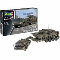 "REVELL 03311 SLT 50-3 ""Elefant"" + Leopard 2A4 1:72 Plastic Model Kit"