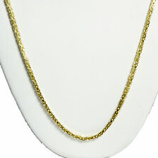 """18.20 gm 14k Solid Gold Yellow Men's Women's Byzantine Necklace Chain 30"""" 2mm"""