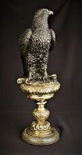 Scultura in Bronzo Aquila uccelli tra uccelli Eagle Falco Bronzo personaggio H: 43 cm