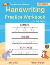 Handwriting Practice workbook Trace Letters: Alphabet for kids Preschool Ages 3+