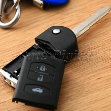 3 BTN Flip Remote Key Fob Body Shell Case Cover Holder for MAZDA 2 3 5 6 RX8 MX5