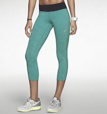 Nike Epic Lux Tight Capris Small S Green Black Triangle Dot Legging Pants Crops