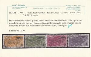 PRIMO VOLO ROMA-BUENOS AIRES SASS P.A. 56-9 SERIE COMPLETA USATA CON OTTIMI ANNU