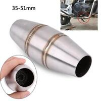 35mm Motorcycle Dirt Pit Bike Stainless Exhaust Pipe Muffler Expansion Chamber