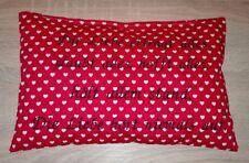 Dekokissen, 20x30 cm, bestickt mit Bibelspruch, gefüllt, Hochzeit/Liebe/Herz,rot
