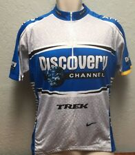 Nike Men's Large Discovery Channel Cycling Jersey Subaru Trek Made in Italy
