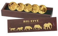Big Five 2018 999.9 pièces d'OR MINI COLLECTION 5x 100 FRANCS 2013 - 2018 PP