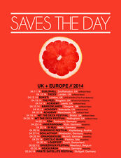 """SAVES THE DAY """"UK + EUROPE // 2014"""" CONCERT TOUR POSTER - Emo, Pop Punk Music"""