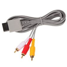 Gold Nintendo Wii / Wii U Composite RCA Audio/Video Cable Replacement AV Lead