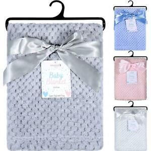 Extra Soft Baby Fleece Blanket Honeycomb Waffle Newborn Gift Set For Cot Pram