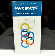 More details for olympic airways winter 1984-1985 vintage worldwide schedules airline timetable