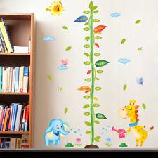 Cartoon Bäumchen Höhe Wachstum Chart Maßnahme PVC Wall Decal Aufkleber Nursery