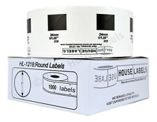 """100 Rolls, 1000 Labels of DK 1218 Brother Compatible Round Labels 1"""" Diameter"""