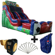 NEW 17ft High Sport Commercial Inflatable Bounce House Water Slide