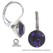 earrings with Swarovski Elements, colour: Purple, Violet