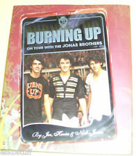 Burning Up Jonas Brothers Tour 2008 Large NEW Book  Nice Pics  See!