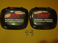 SUBARU IMPREZA FOG, SPOT LAMP COVERS 01-02 BUGEYE ABS CARBON FIBRE EFFECT
