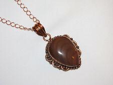 Succor Creek Jasper copper pendant necklace natural stone sexual magic regal fun