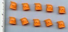 LEGO x 10 Orange Minifig, Headgear Helmet SW Clone Trooper with Holes, Plain