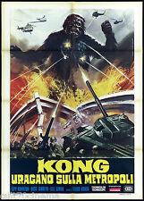 KONG URAGANO SULLA METROPOLI MANIFESTO FILM WAR OF THE GARGANTUAS 1976 POSTER 2F