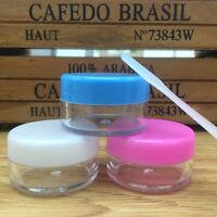 10pcs 10g Face Cream Container Plastic Empty Lip Balm MakeupCosmetics Jar Pot