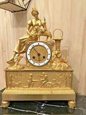 Superbe Pendule Epoque Empire - Charles X En Bronze