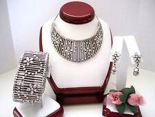 "Brighton ""AMERICAN BEAUTY"" Necklace-Earring-Bracelet Set (MSR$248) NWT/Pouch"