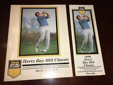 Original 1986 hertz bay classic Golf Championship Program + XTRA RARE!