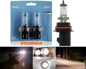 Sylvania Basic 9007 HB5 65/55W Two Bulbs Head Light High Low Beam Replacement OE