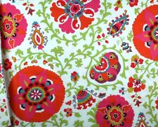 "Bright Abstract Floral Multi-Color Upholstery Fabric 45"" By the Yard"