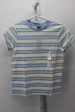 WOMEN'S TIGHT FIT SHIRT WILD FABLE BLUE WHITE STRIPE XS - NEW W/TAGS