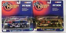 Lot Of 2 1999 Hasbro Winner's Circle Pit Row Series Dale Earnhardt & Jr. Car Toy