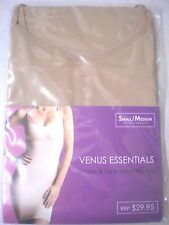SEAMLESS STRETCH SLIP SINGLET DRESS CAMISOLE SMALL/MED. BUST 80-95cm BEIGE - NEW