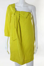 See by Chloe Yellow Cotton One Shoulder Above Knee Length Dress Size 6