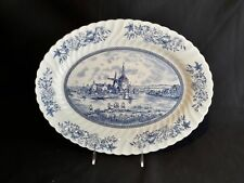 """Johnson Brothers Tulip Time  Oval Serving Platter 14"""""""