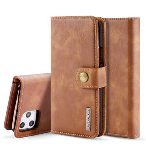 PU Leather Protective Cover for iPhone Samsung Bifold Card Holder Slim Back Case