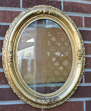 Antique VICTORIAN Gilded Gold OVAL Gesso PORTRAIT Picture Frame 11 x 14 c1890s