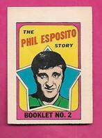 1971-72 BRUINS PHIL ESPOSITO  BOOKLET INSERT (INV# C7779)