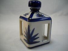Vintage Cobalt Blue And Cream Porcelain Perfume/Scent Oil Bottle Corked Lid