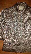 Alberto Makali Caché Womens Leopard Animal Print Gold Jacket size 12 NEW