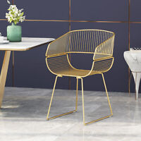 Adonnis Modern Glam Iron Dining Chair