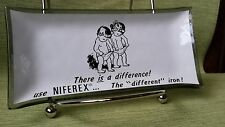 Vintage Niferex coin tray toddlers diaper glass 4.5 x 2.5 inches
