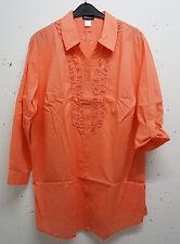 Markenlose klassische Damenblusen, - tops & -shirts aus Baumwolle ohne Muster