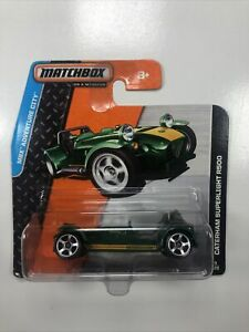 2014 MATCHBOX MATTEL CATERHAM SUPERLIGHT R500 SPORTS CAR SHORT CARD 9/120 Green