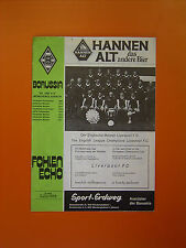 Copa Europea semi-final 1st Leg-Borussia Mönchengladbach V Liverpool - 29/3/78