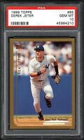 (2) CARD LOT 1999 Topps #85 DEREK JETER HOF New York Yankees PSA 10 GEM MINT