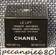 CHANEL LE LIFT CREME YEUX Firming Anti-wrinkle Eye Cream Full Size 15ml / .5oz