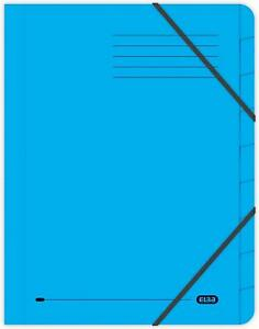 Elba A4 Foolscap Strongline 9-Part Files, 320 gsm, Blue, Pack of 5