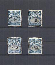 Danzig, Gdansk, 1923 Michelnrn: Porto ex 30 - 37 o, gestempelt o,Katalogwert € 9