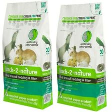 2x 30L BACK 2 NATURE Litter Bedding Small Animal Rabbit Guinea Bird Reptile 60L